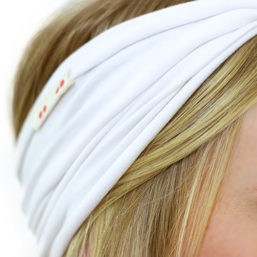 White Twist Headband for Kundalini Yoga