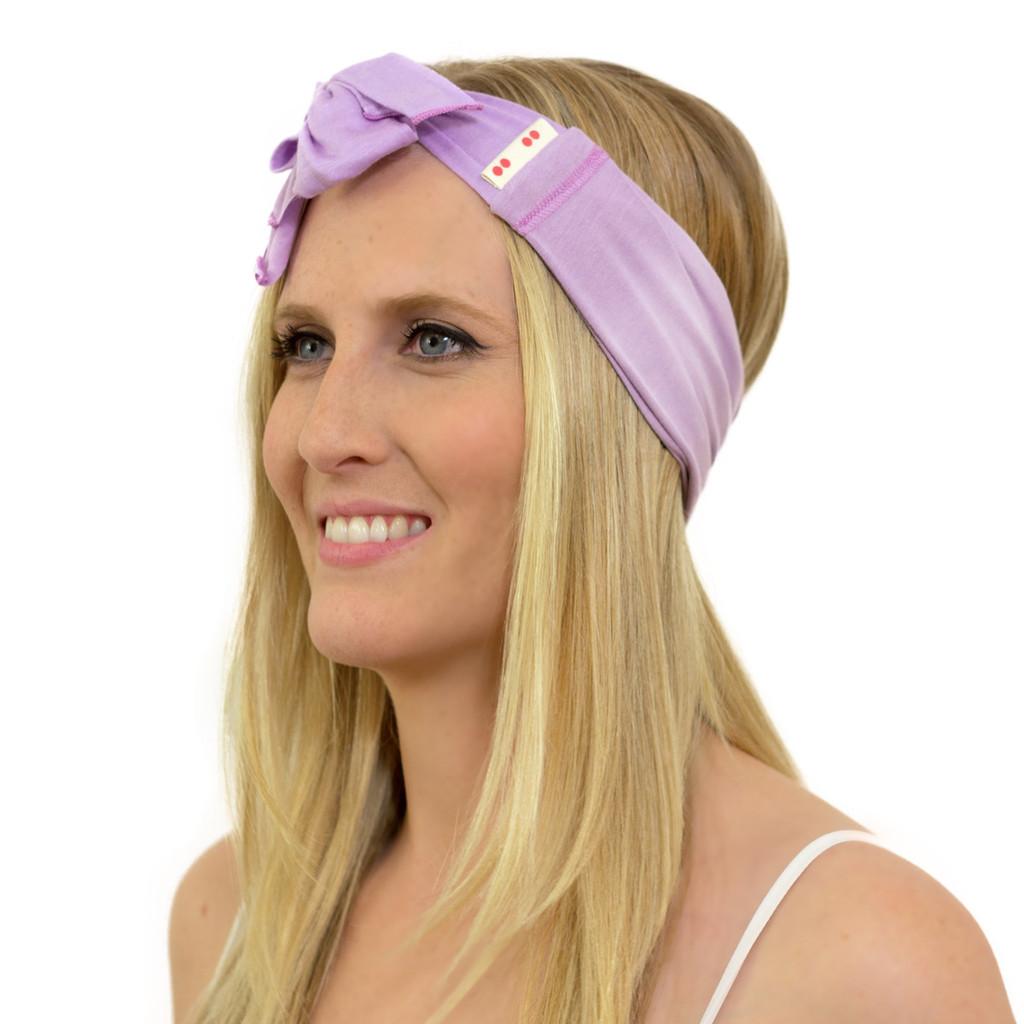 purple bow headband