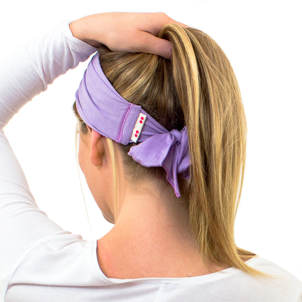 Cute purple sweatband