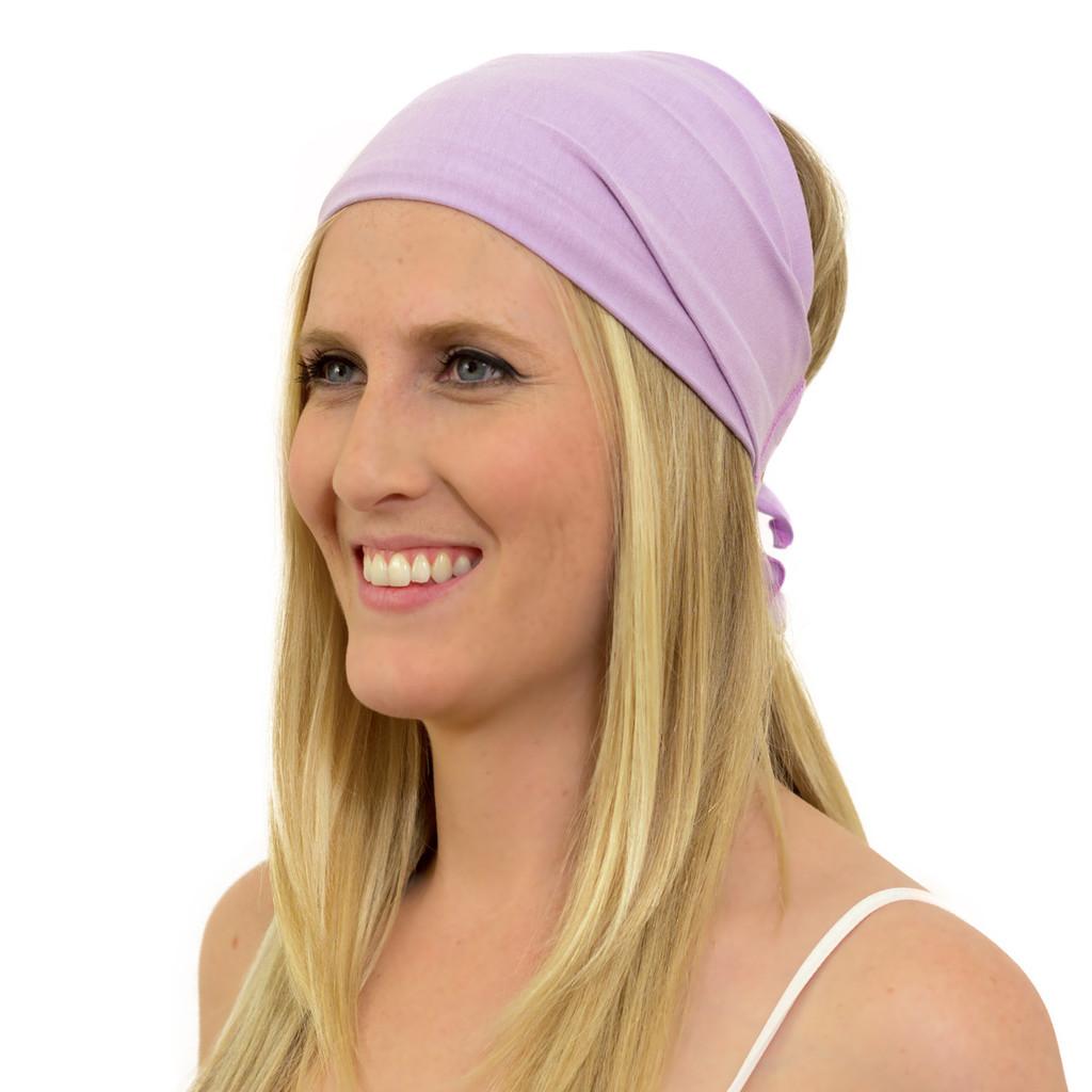 purple bandana headband for women
