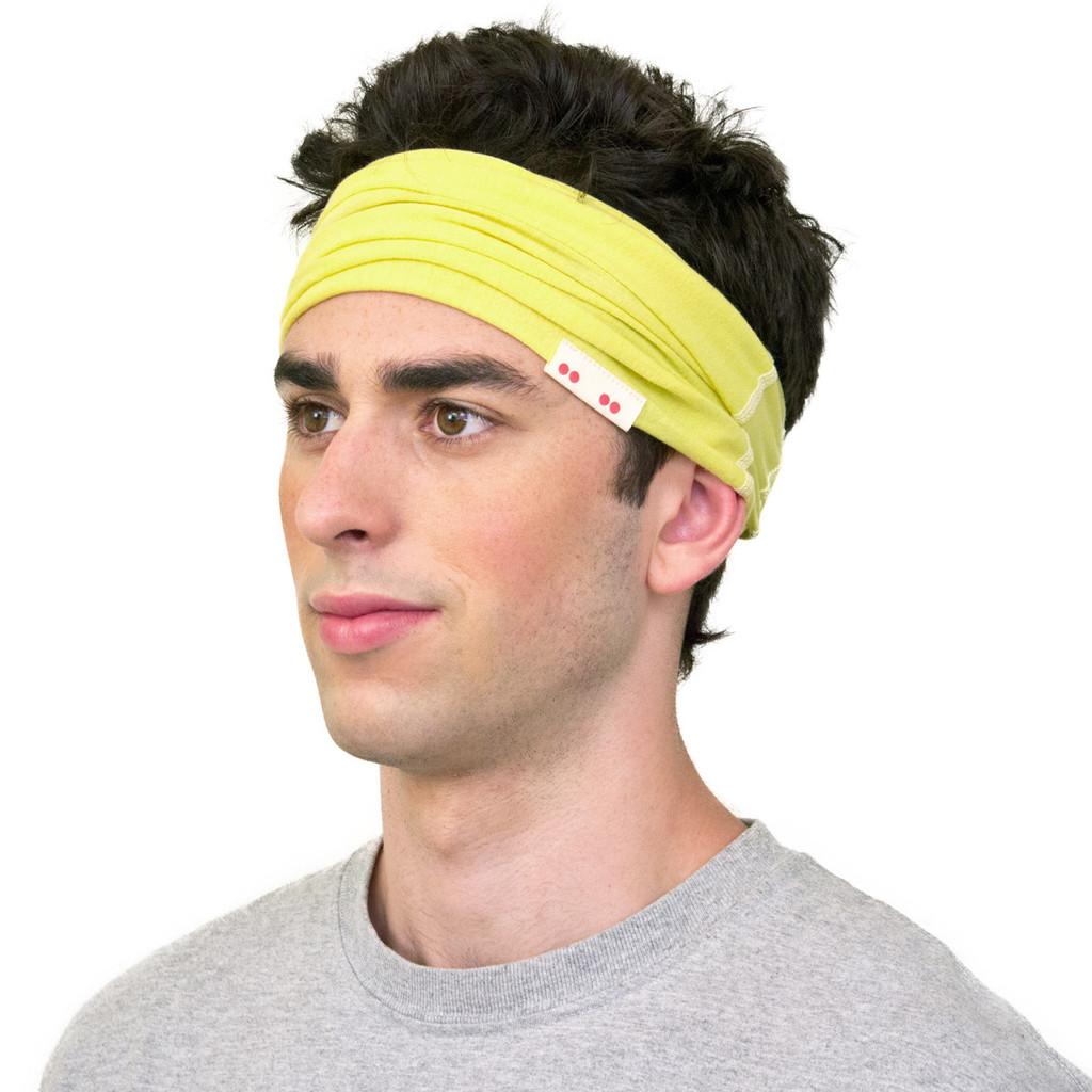yellow headband for men