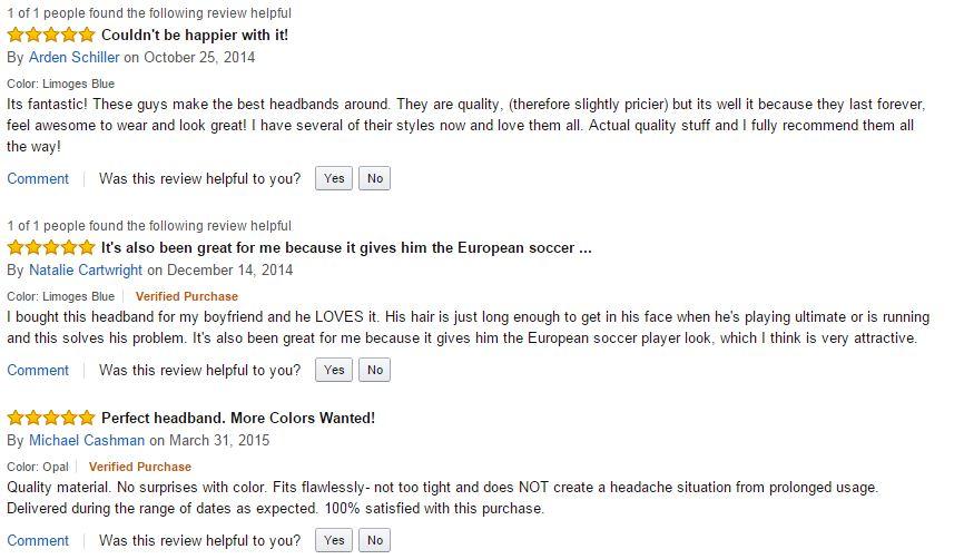 most popular mens headbands Amazon
