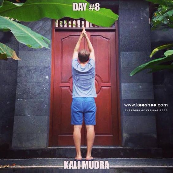 Kali mudra for destroying negativity