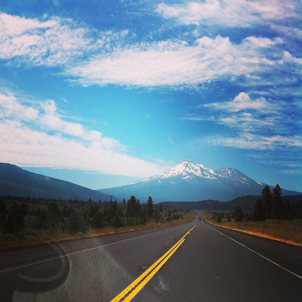 Mt. shasta marks the spectacular finale of the mountains before descending to the plains of california