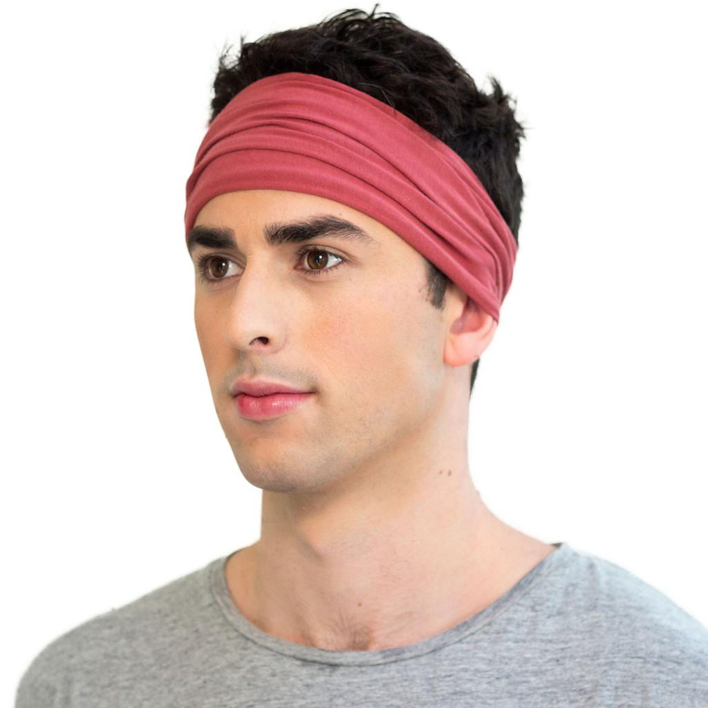 mens red headband