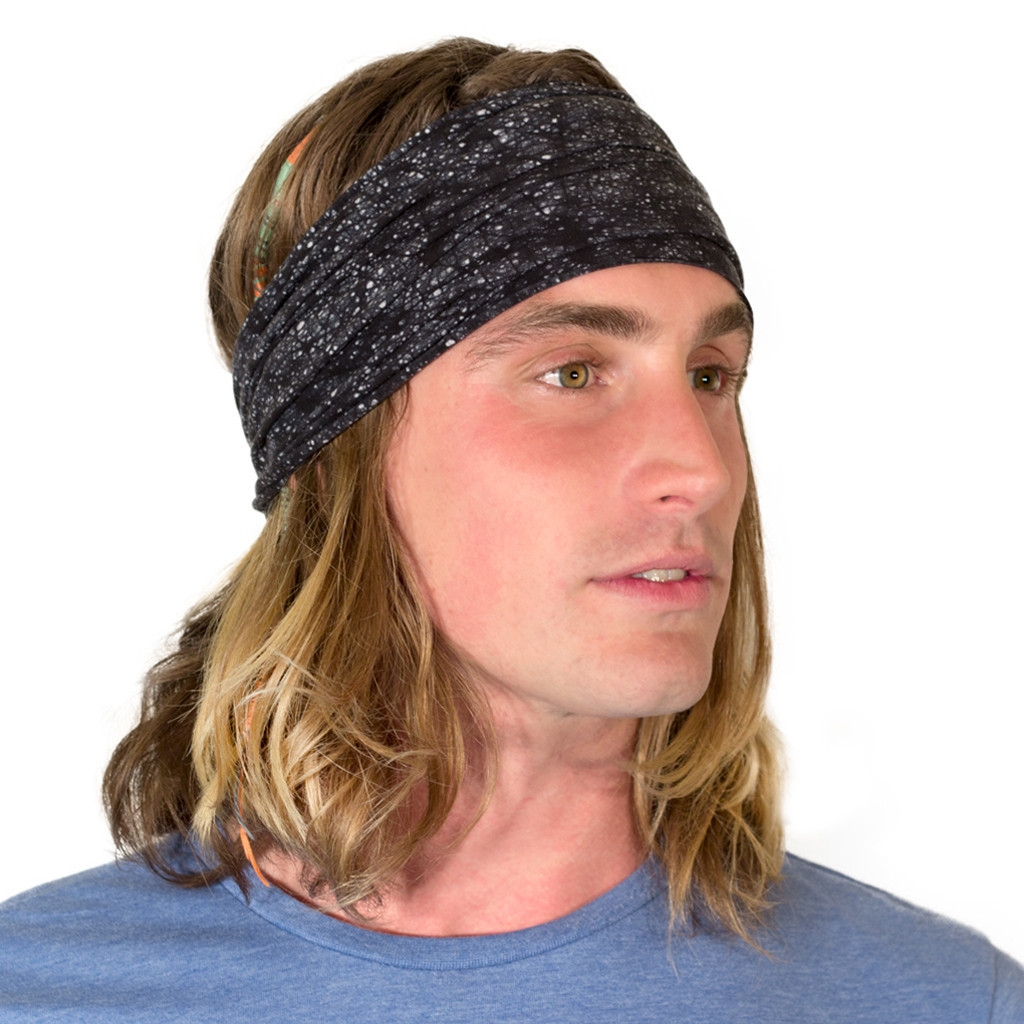 Black headband for men