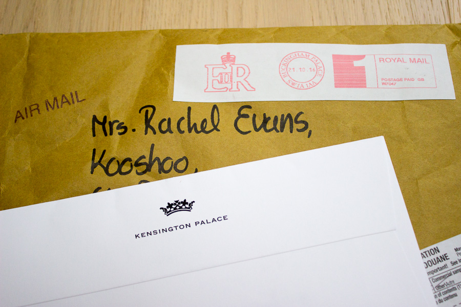 KOOSHOO got royal mail from Kensington palace!