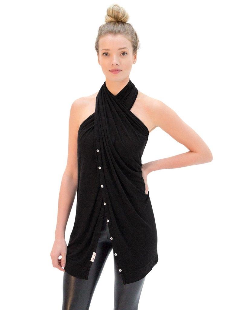 black multi-use scarf