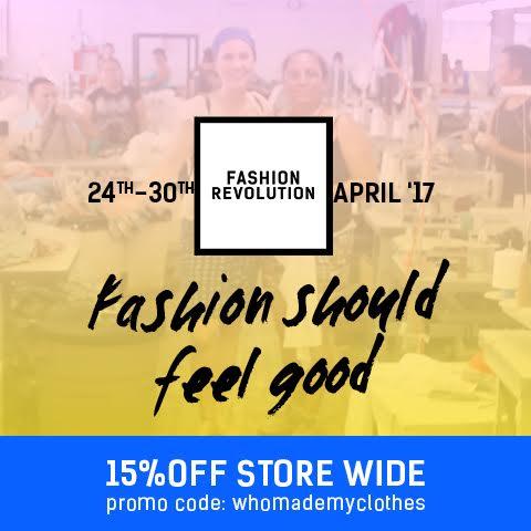 15% off fashion revolution sale