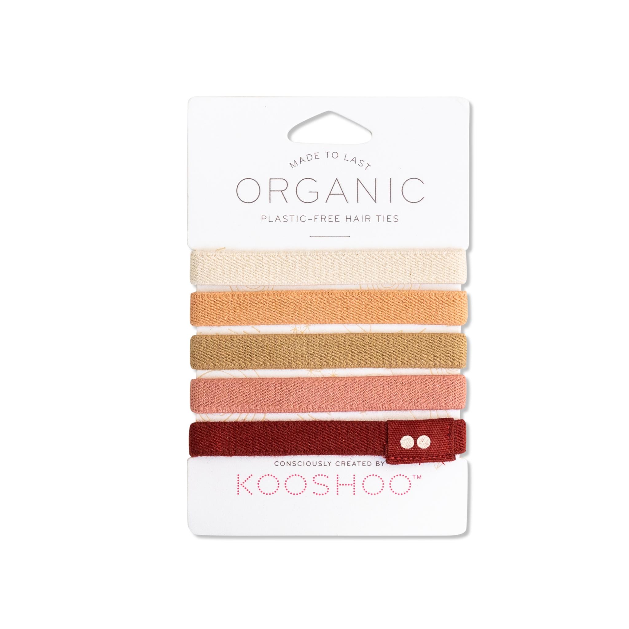Ginger Organic Plastic-Free Hair Ties by KOOSHOO - front.jpg