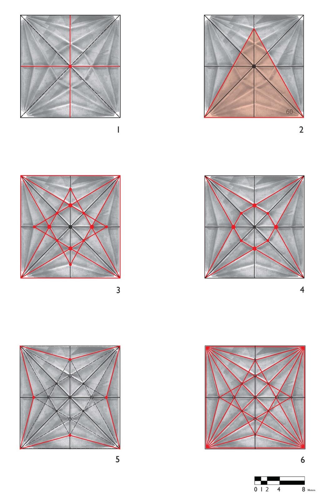 Underlying geometry of the vaults of Yanhuitlan