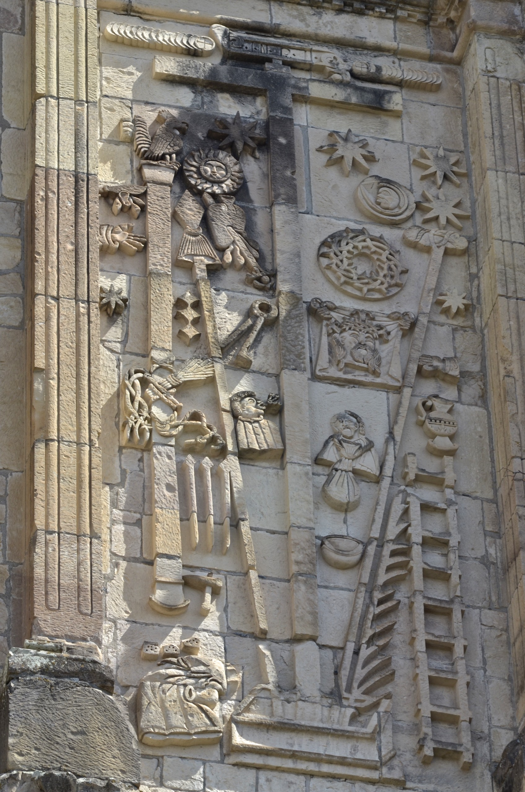 North facade decoration at San Juan Bautista Coixtlahuaca