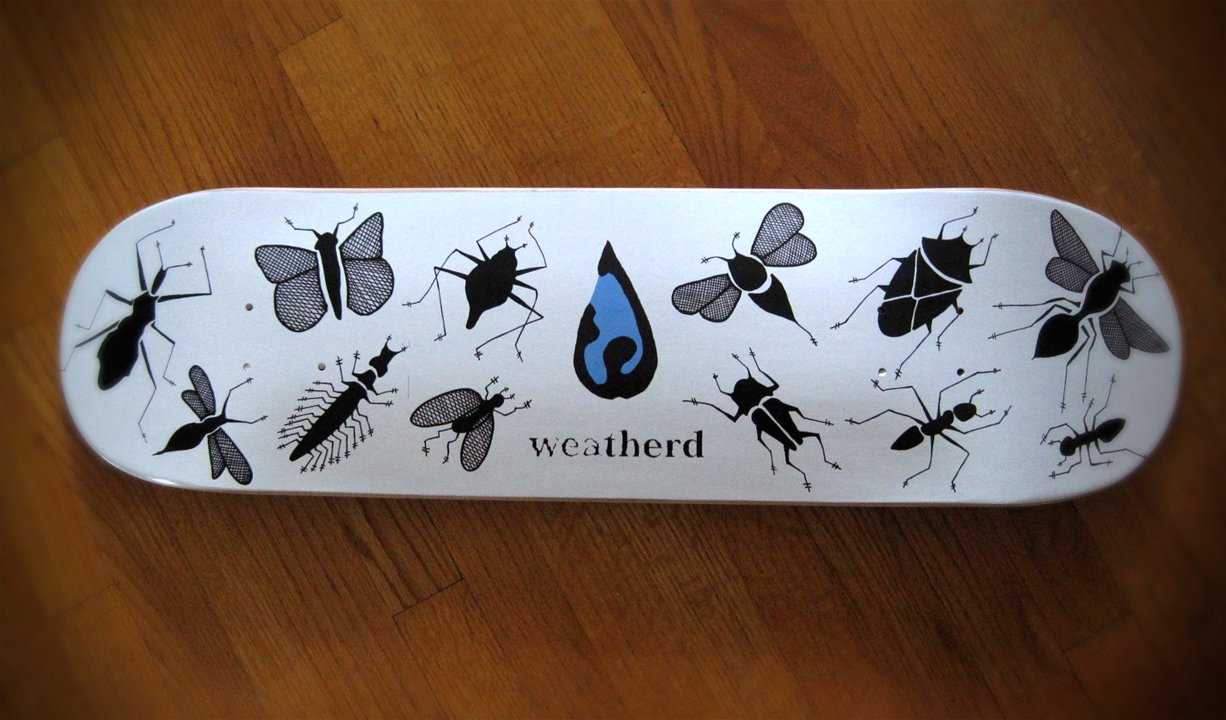 Skateboard Deck  Weatherd Skateboards Not For Sale They were for sale at every Eastern Boarder locations. Limited edition.