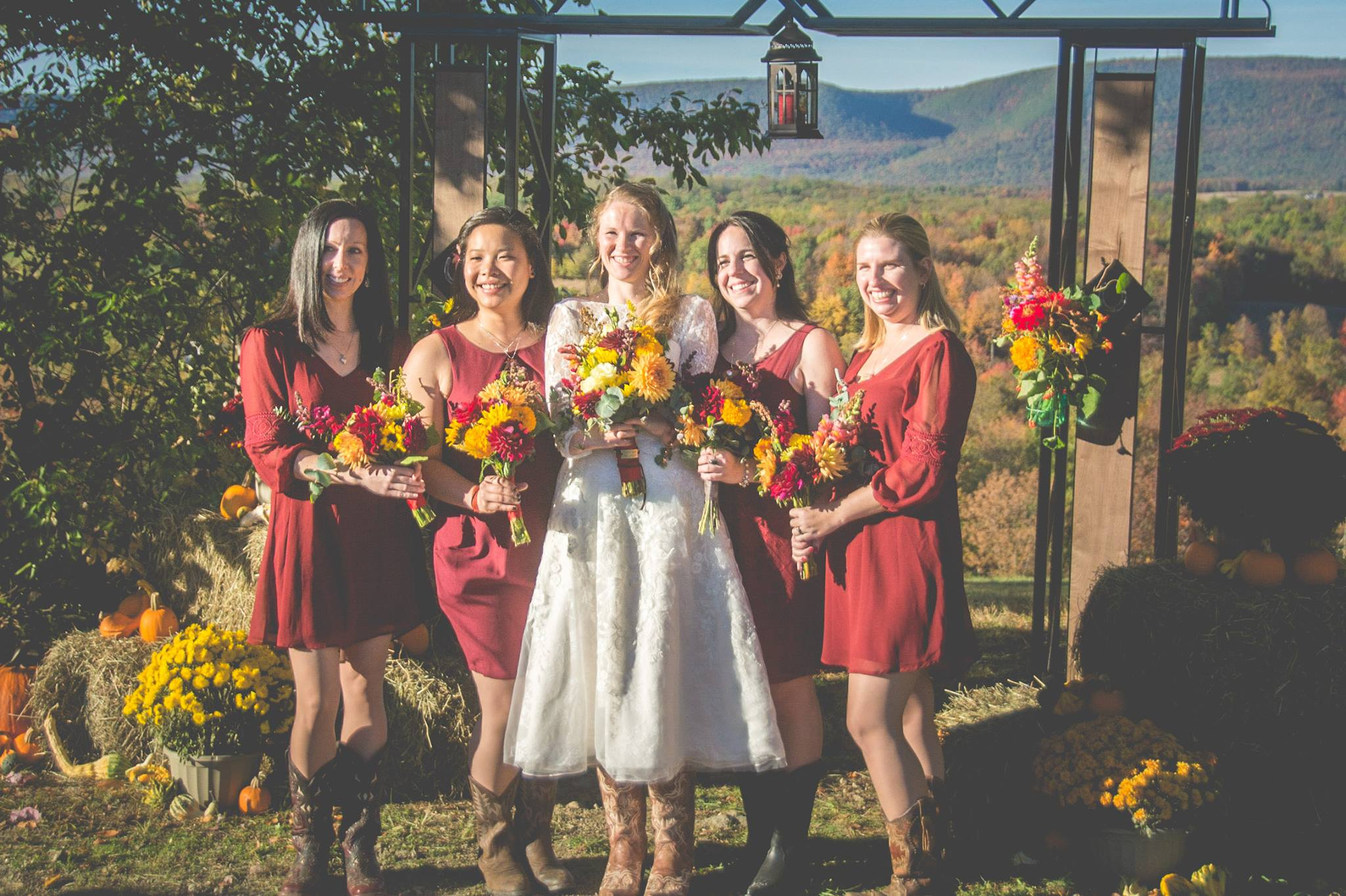 Bridal party flowers - October wedding
