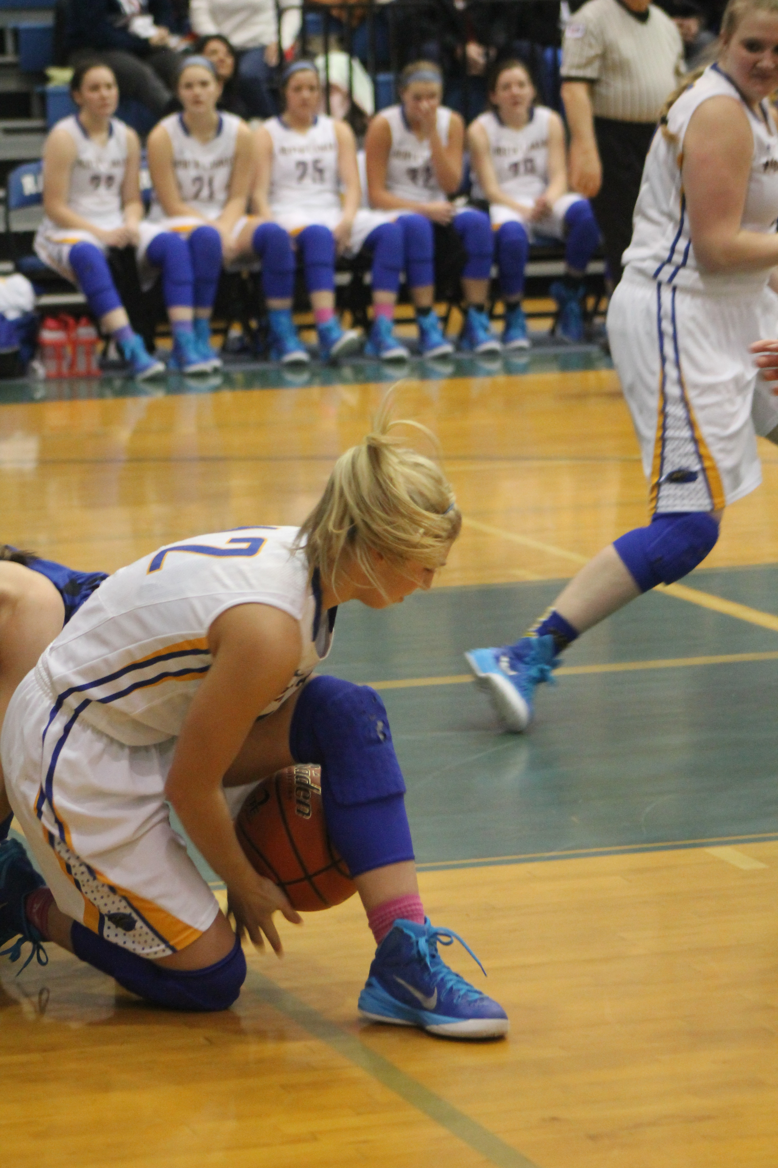 (Photo by Adam Routon) Lexie Stephens with a steal against Spring Hill