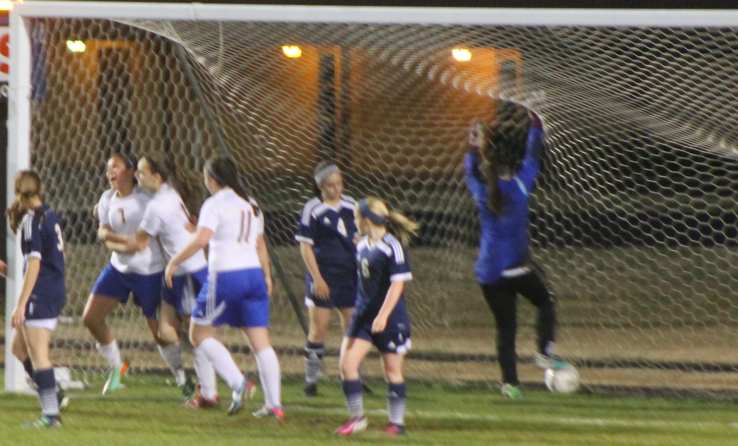 (Photo by Madison Routon) Maria Leyva (Senior) celebrates a goal against Paris.