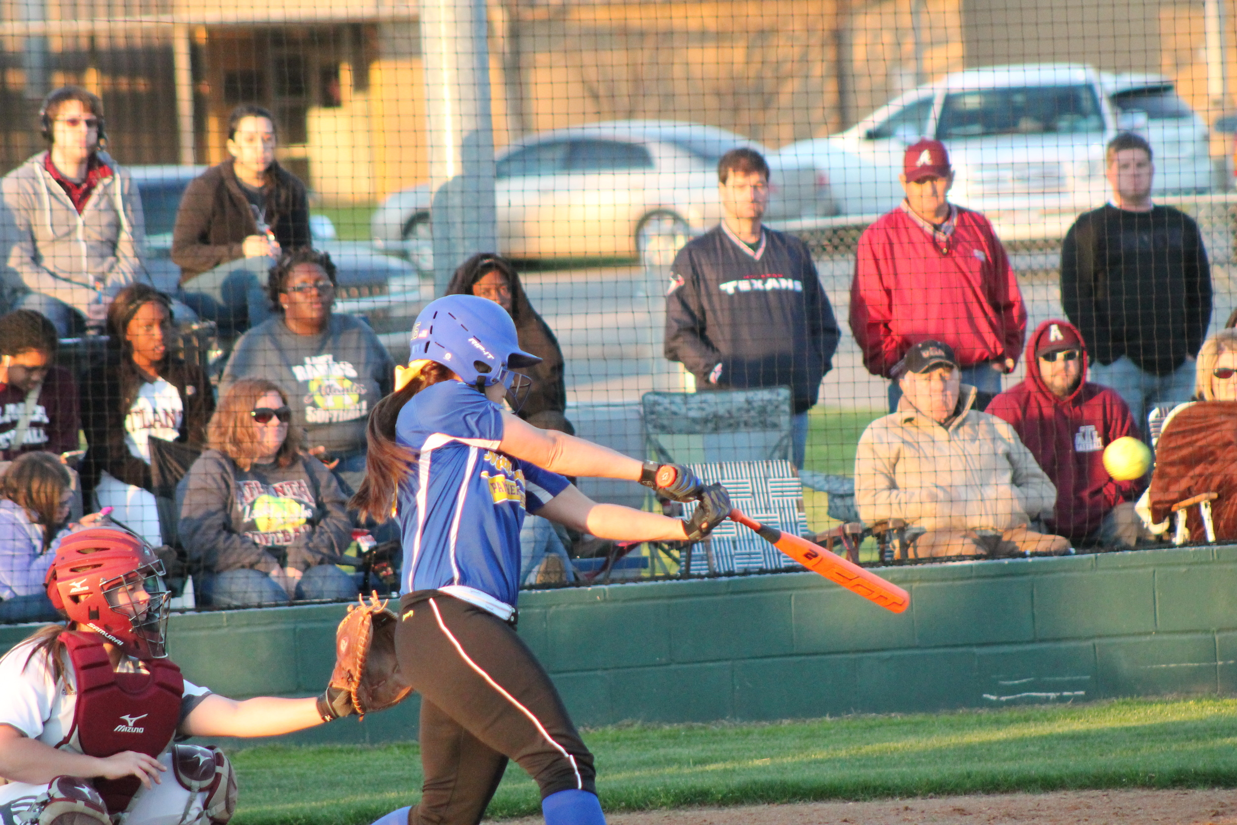 Tanna Huie with a double in the fifth inning against Atlanta Friday night. Huie also had a home run for North Lamar in the 4-2 victory.