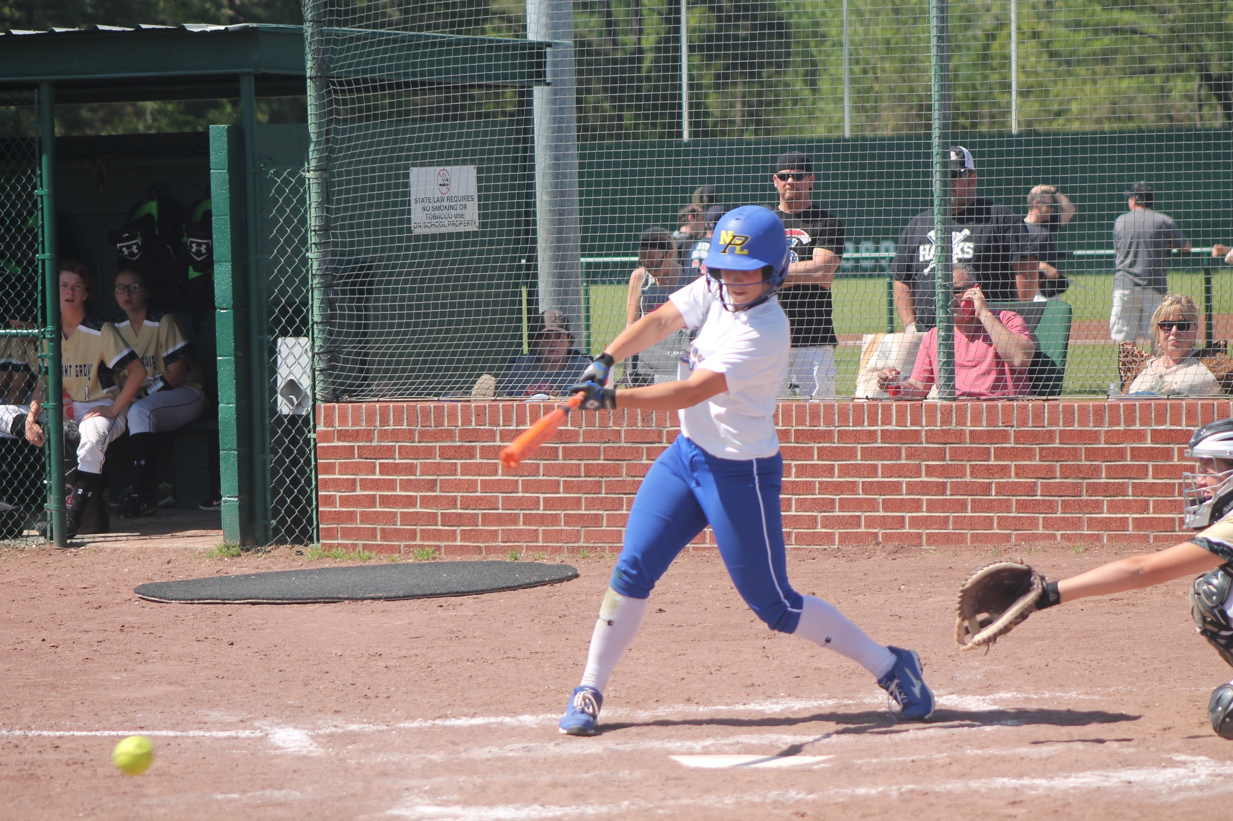 Tanna Huie with a hit earlier in the year.