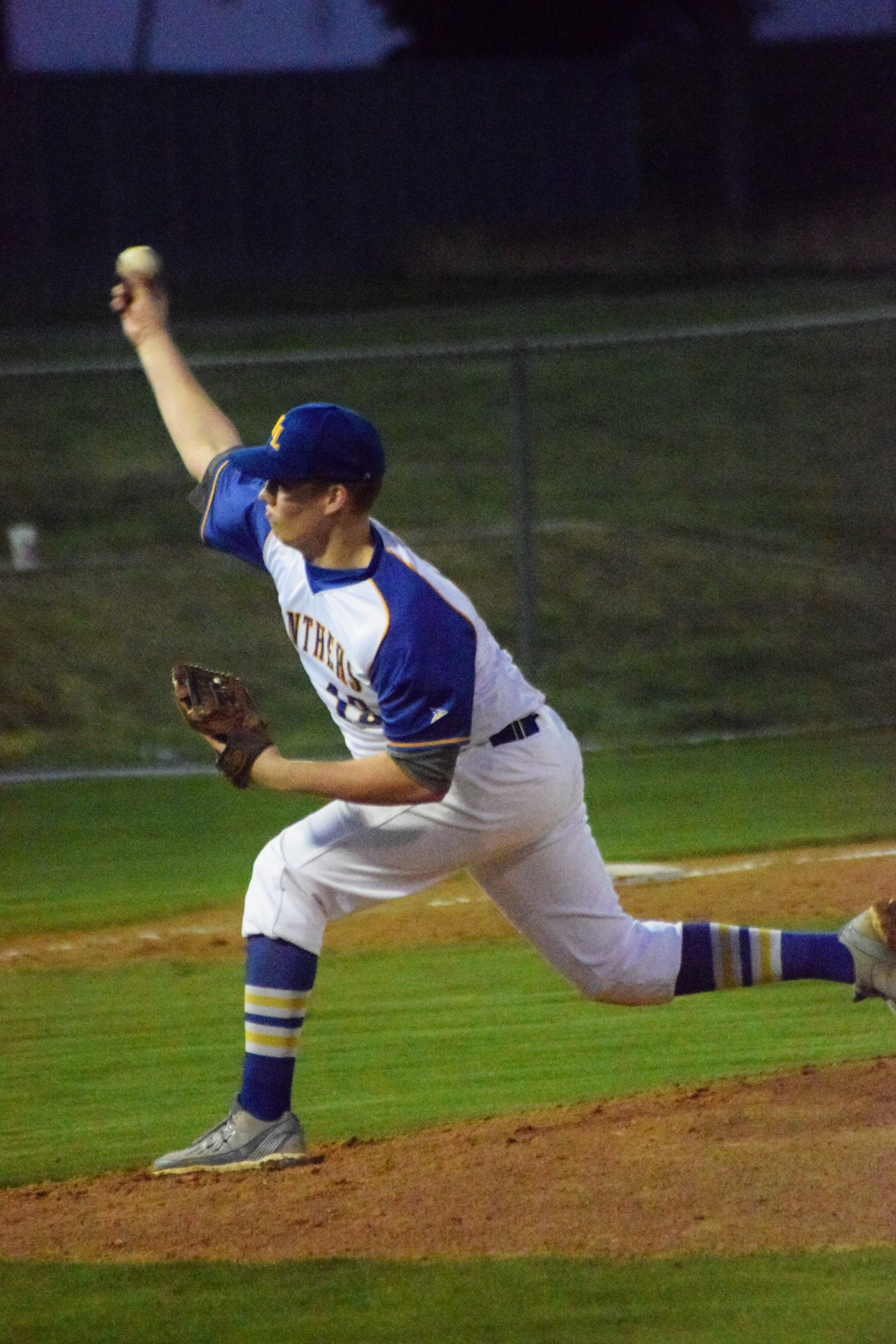 (Photo by Bev White) Ty Jones delivering a pitch earlier in the season