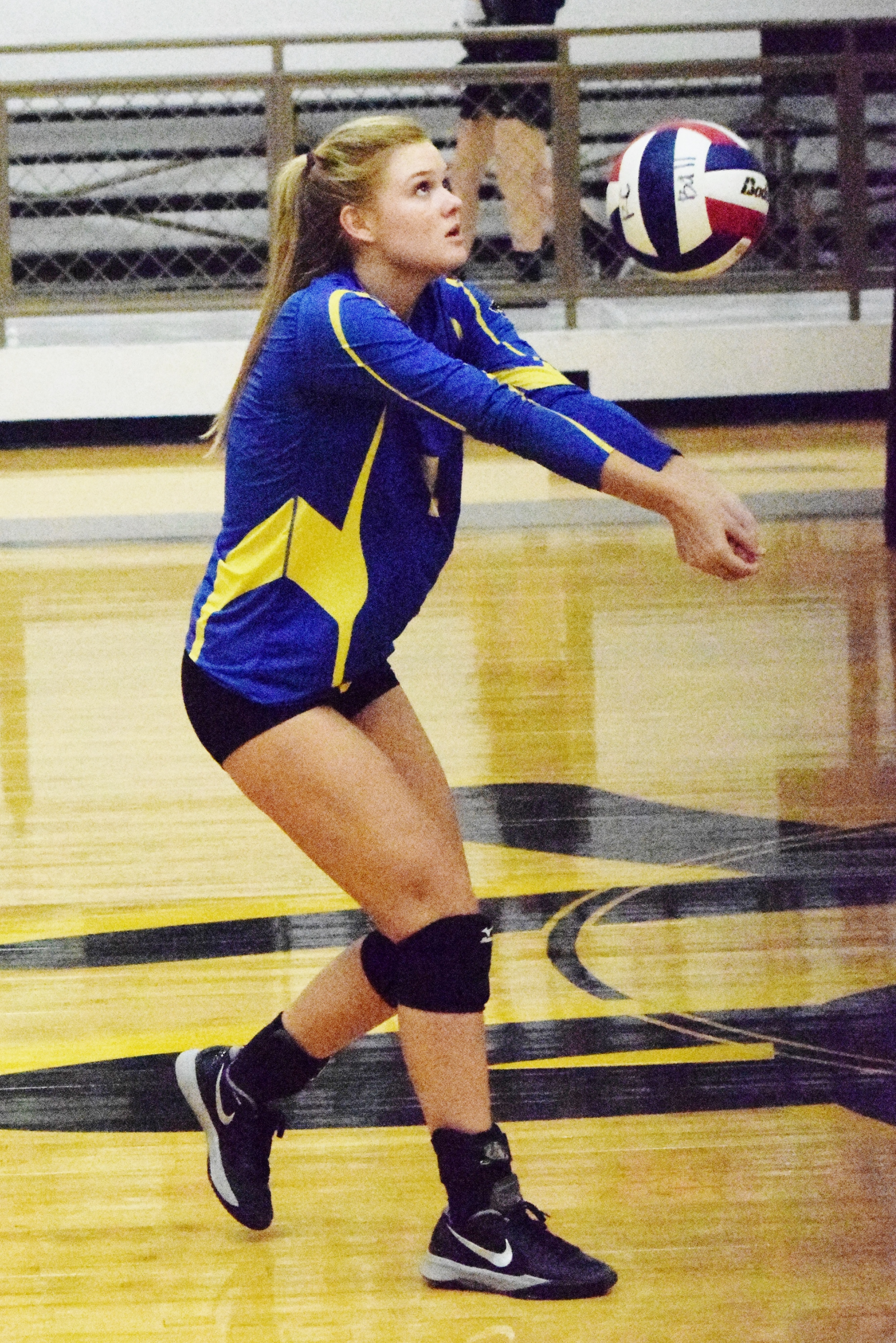 (photo by Bev White) Kayla Igleheart with a hit against Royce City.