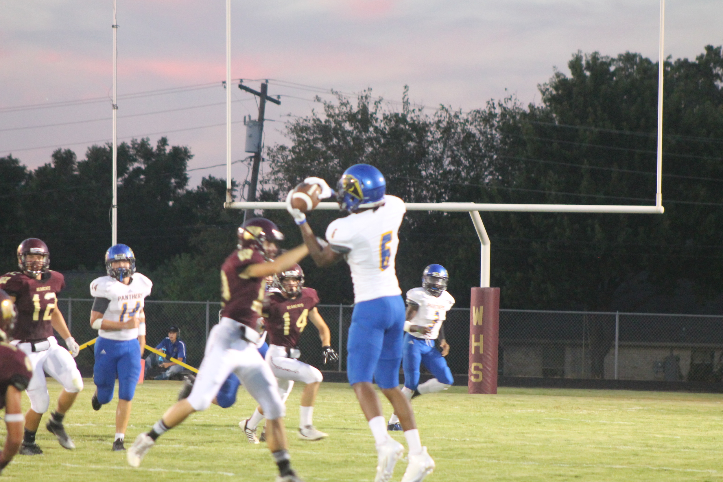 (Photo by Adam Routon) Julique Franklin (6) with a reception for North Lamar against Whitesboro.
