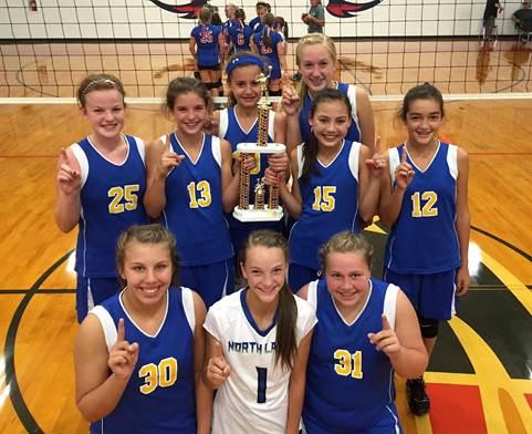 North Lamar 7th grade Blue team at the Prairiland Tournament earlier in the year.