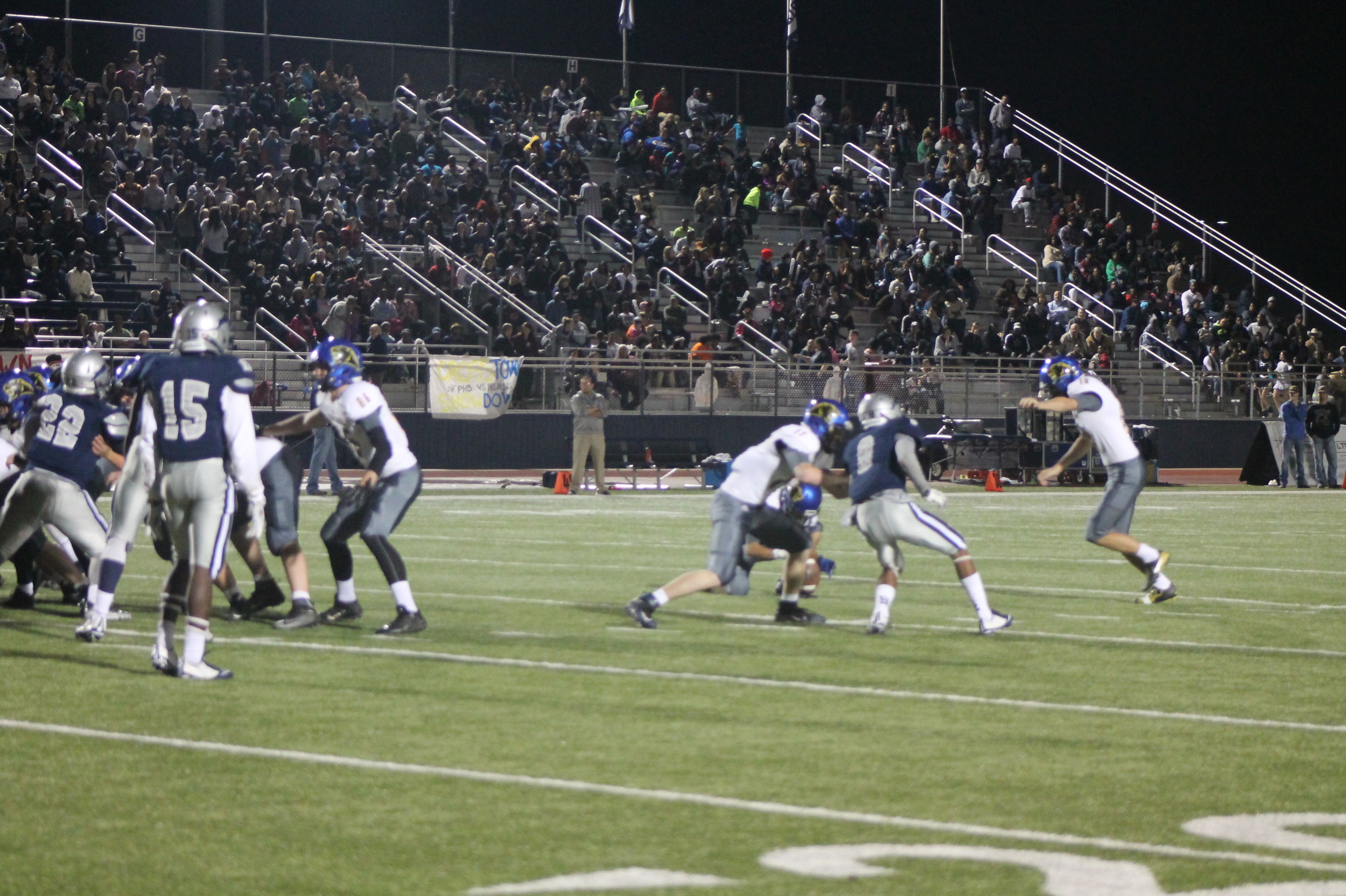 (Photo by Maddy Routon) Nick West with a 42 yard field goal for North Lamar