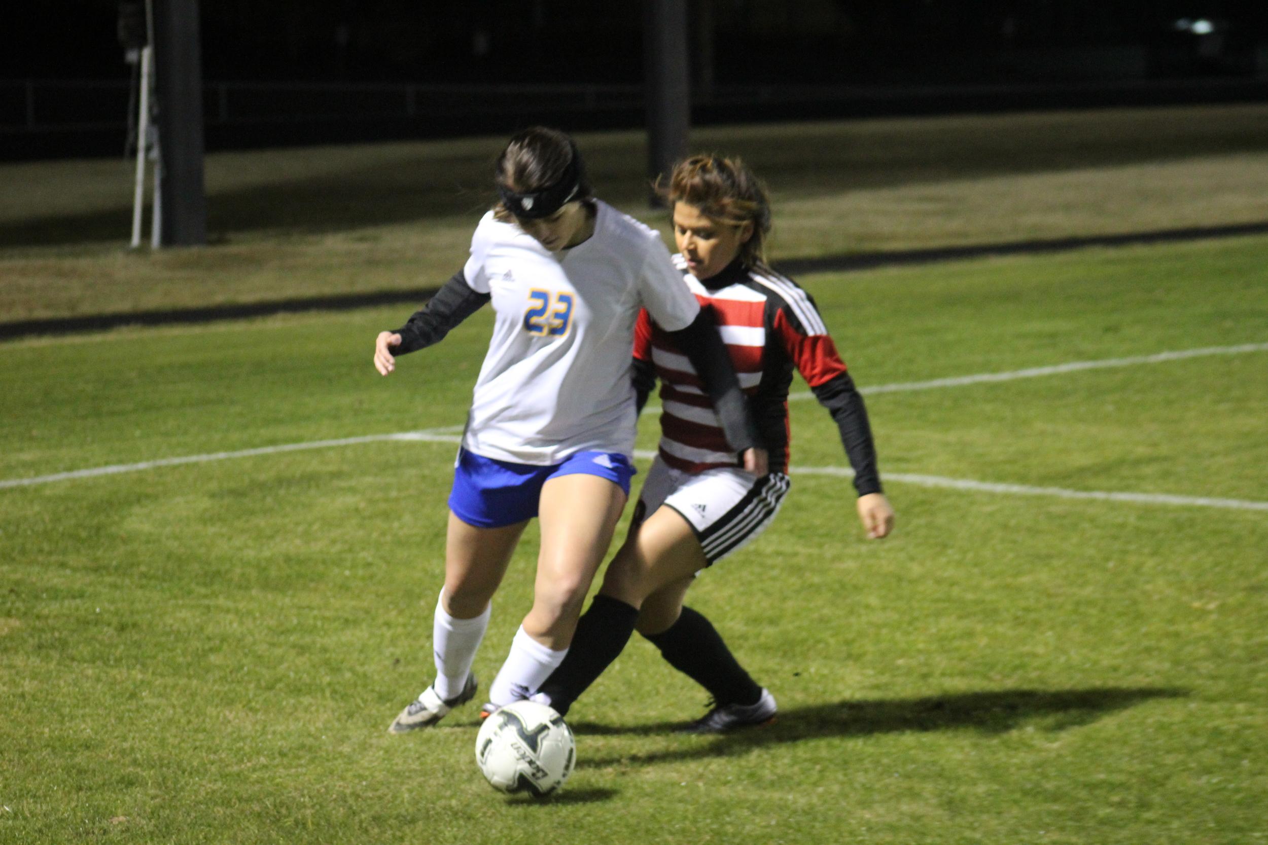 Karlee Alexander Fights Through a Greenville Defender