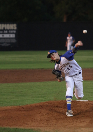 (Photo by Bill Higgins) Kevin Dickey pitching last season in a playoff game for North Lamar.