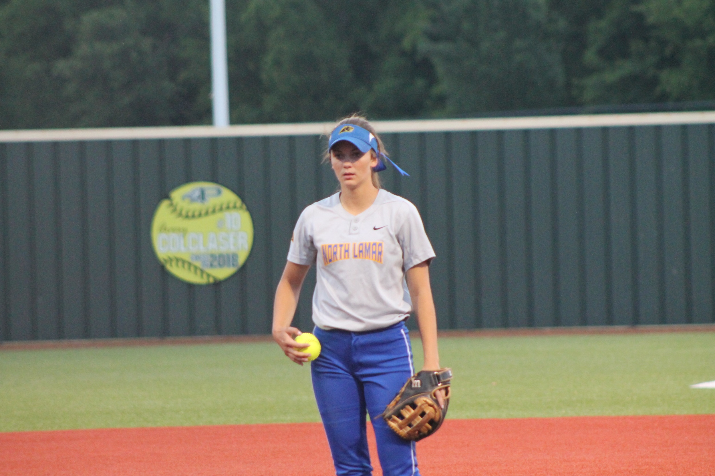 Reagan Richardson getting set for a pitch against Krum