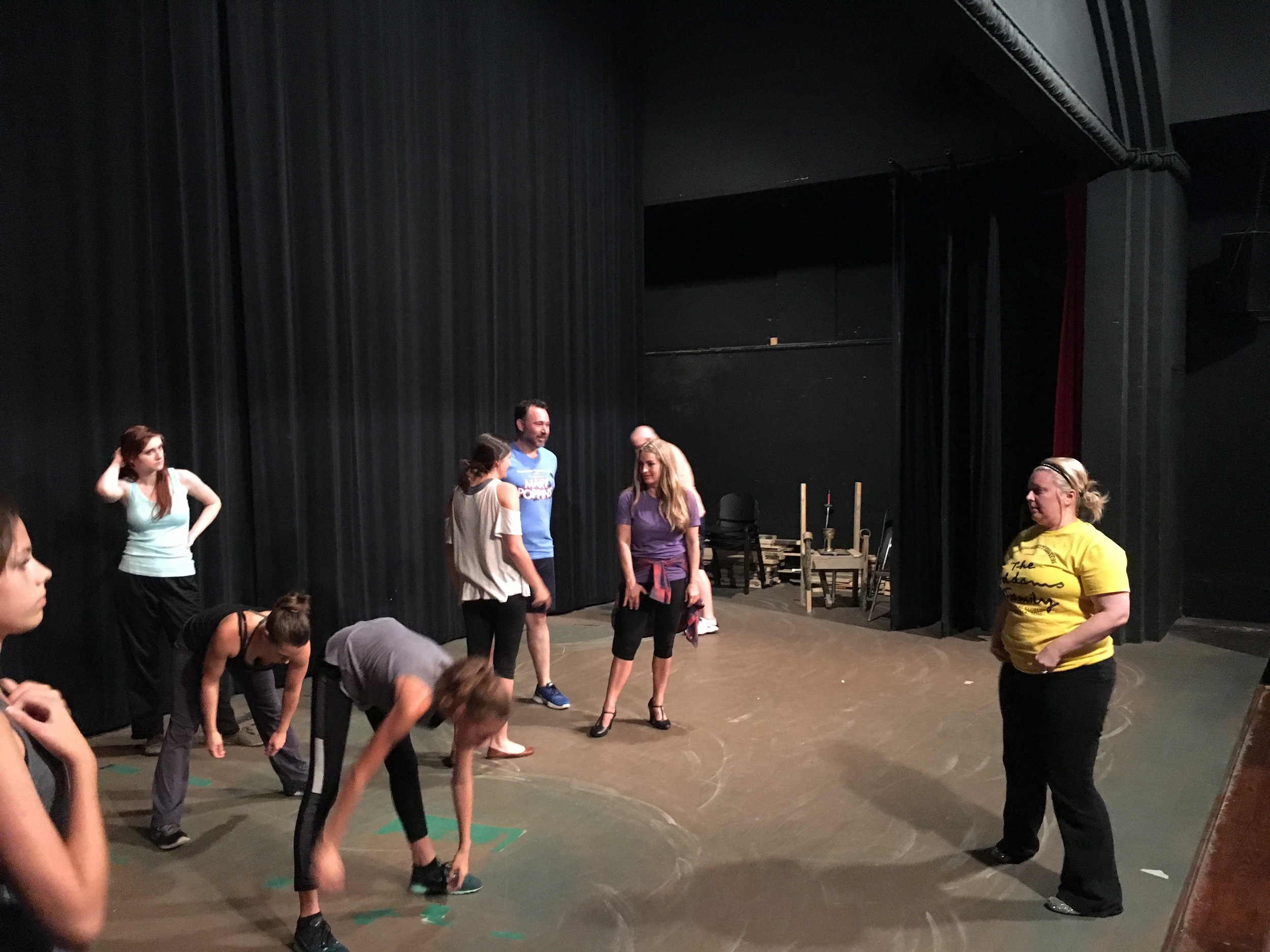 Ancestors working on choreography