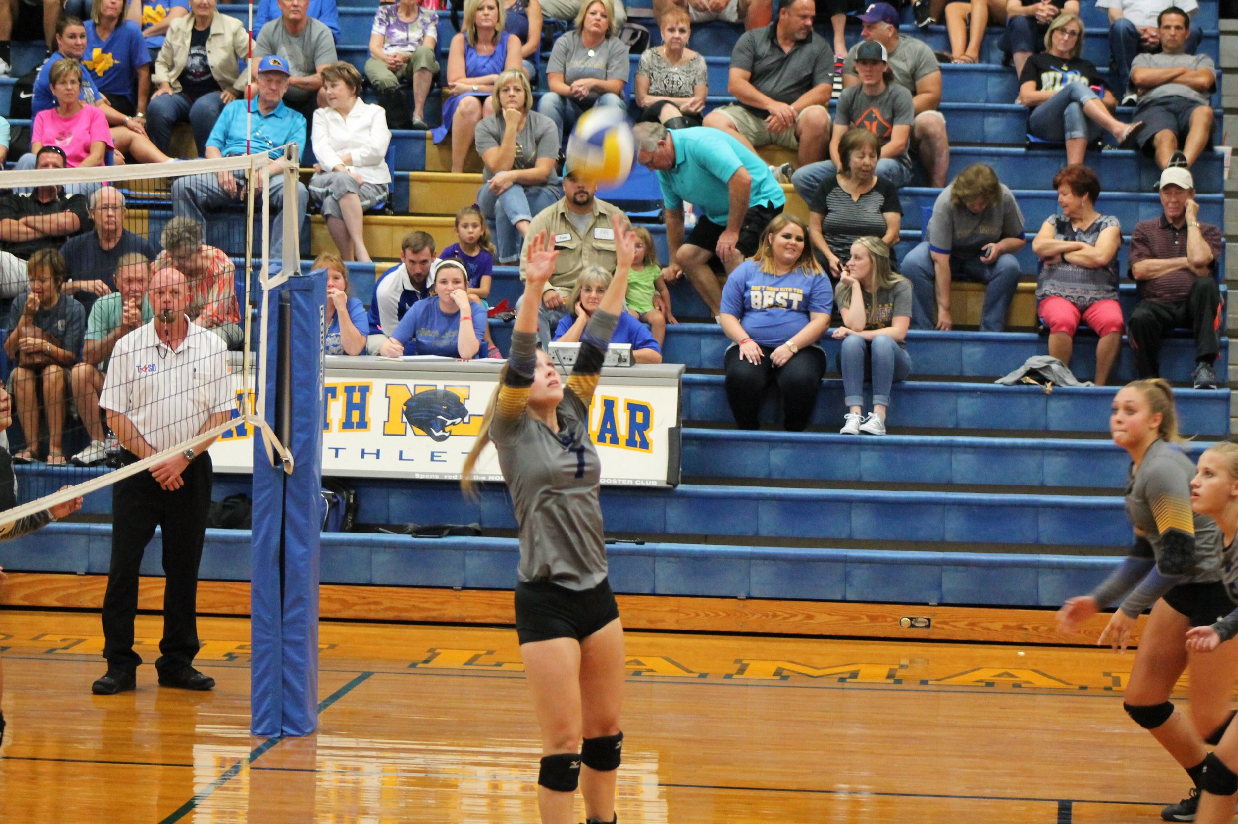 Haley Porter with one of her 19 assists.