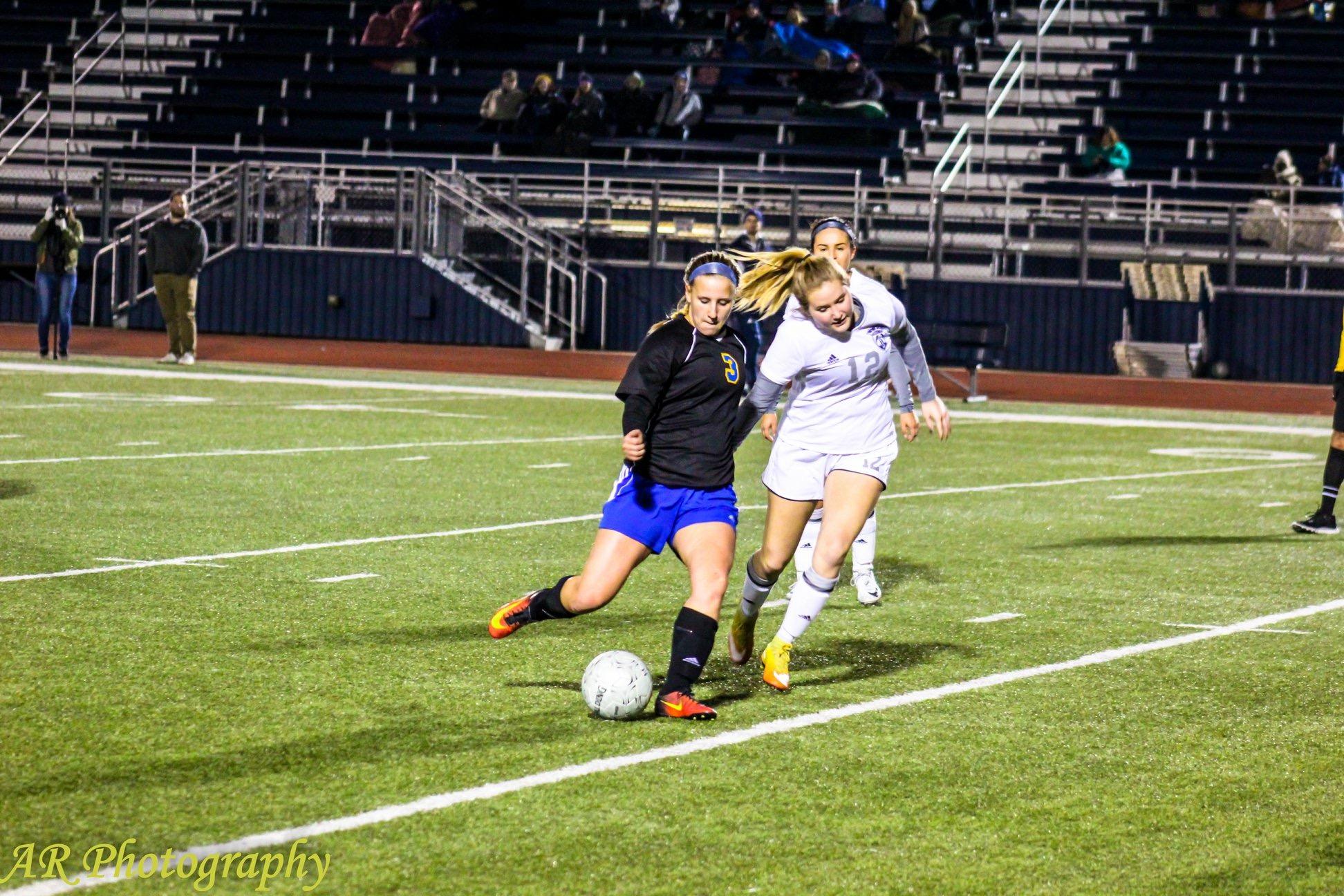Kylea Basden lines up the kick
