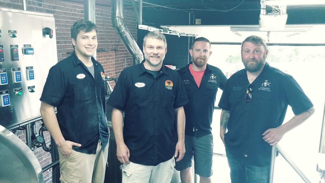 Phoenix and Catawba Island Brewing Company on brew day 1.