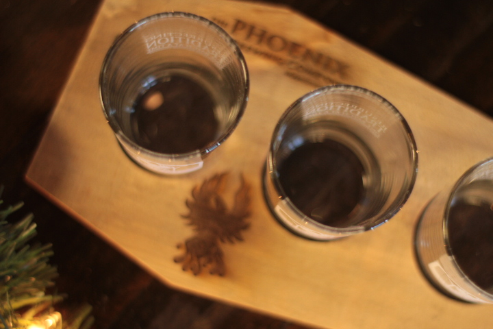Flight paddle and four glasses is perfect for sampling beers at home.