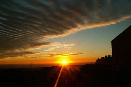 A sunrise over contemporary Jerusalem.