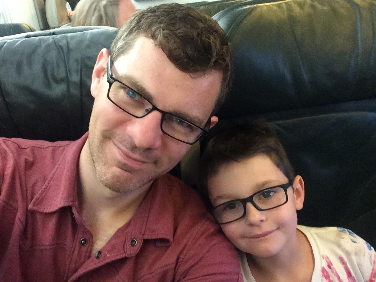 Airplane selfie.