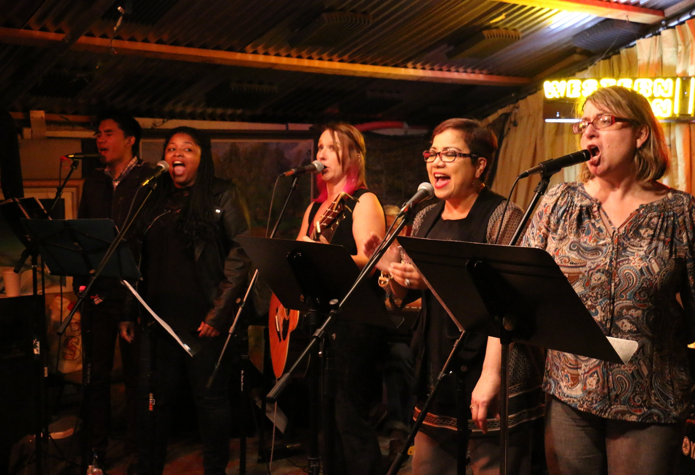 Haven singers perform at a benefit concert for Berkeley Food and Housing Project, October 2016