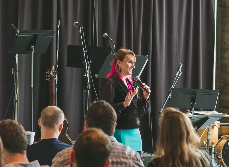 Pastor Leah Martens does the bulk of the preaching at Haven.