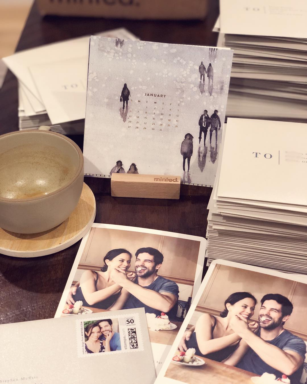 Overwhelmed that Kim & Brant Daugherty picked the tasting photo for their save the date. Such an adorable picture.