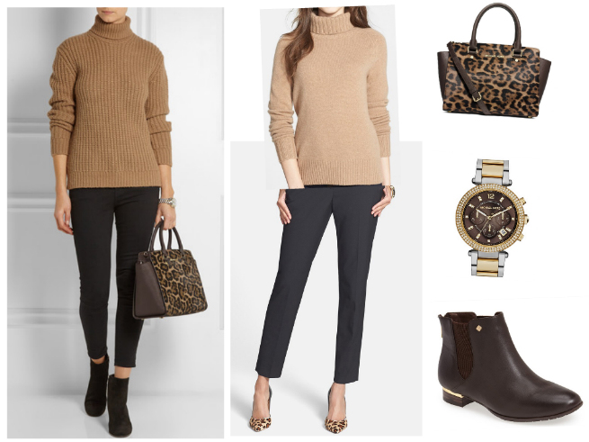 Sweater $158  //  Pants $79  //  Bag $398  //  Watch $275  //  Boots $129.95