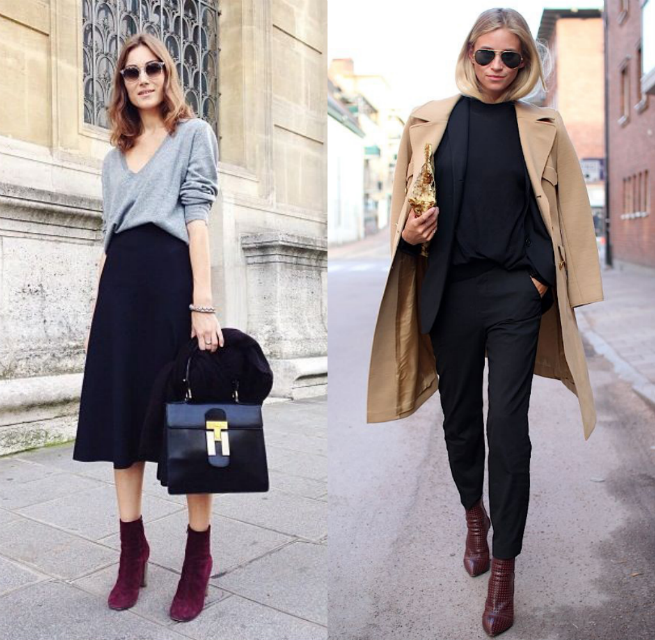 burgundy shoes workwear outfits