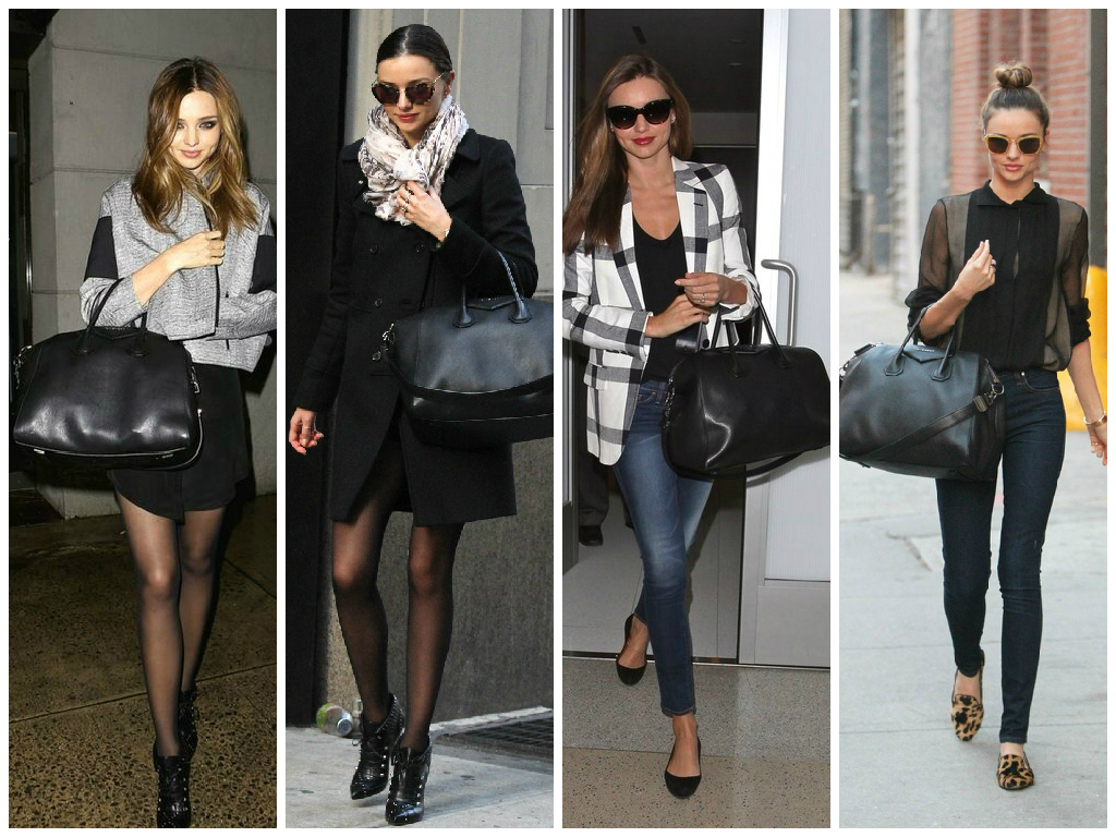 This bag is perfect in color, proportions, size, and handles length. It is not surprising that Miranda wears it so much. I have a similar bag by LV and also wear it almost every day. It's definitely become my key item.
