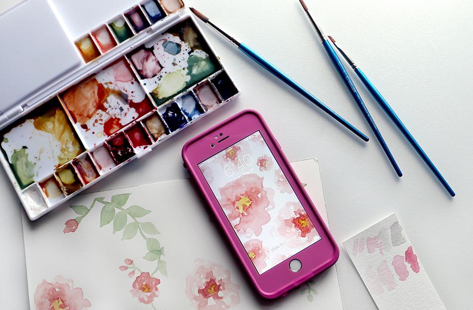 watercolorwallpaperiphone