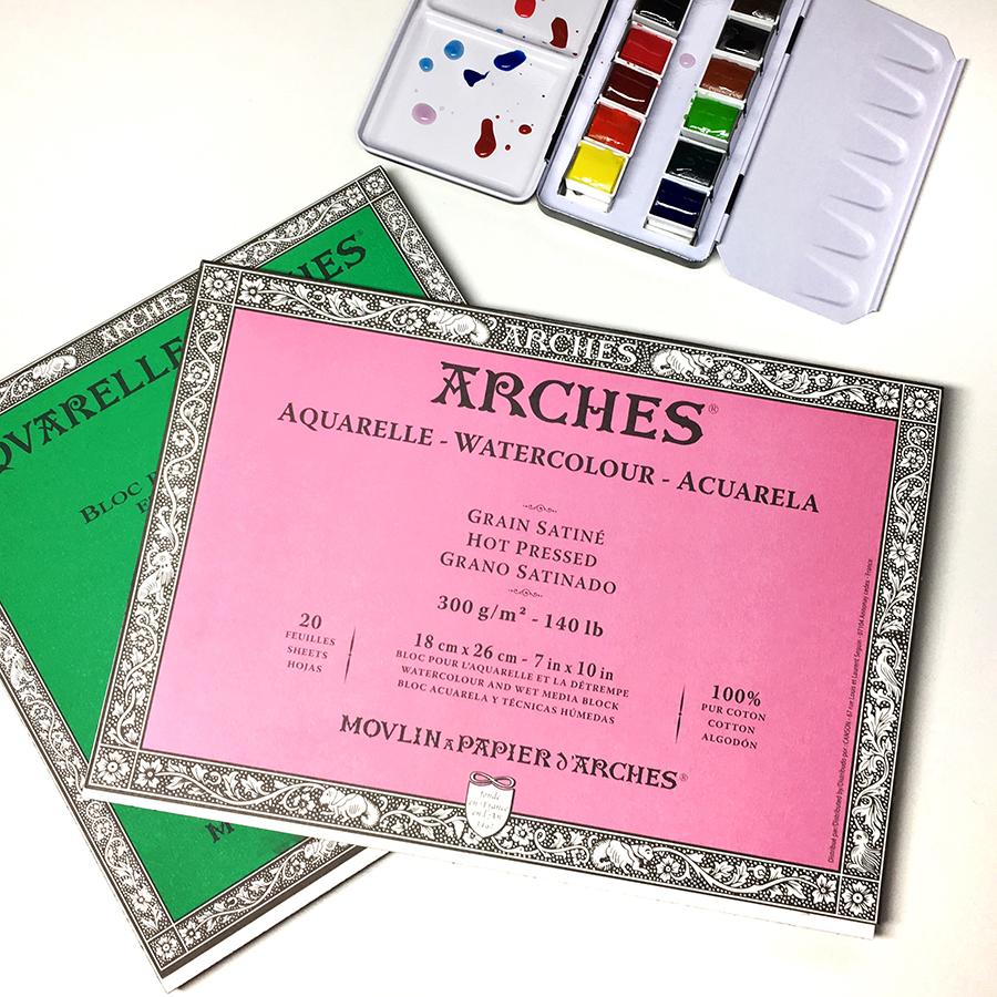 Arches Aquarelle Watercolor Block (Hot Pressed)