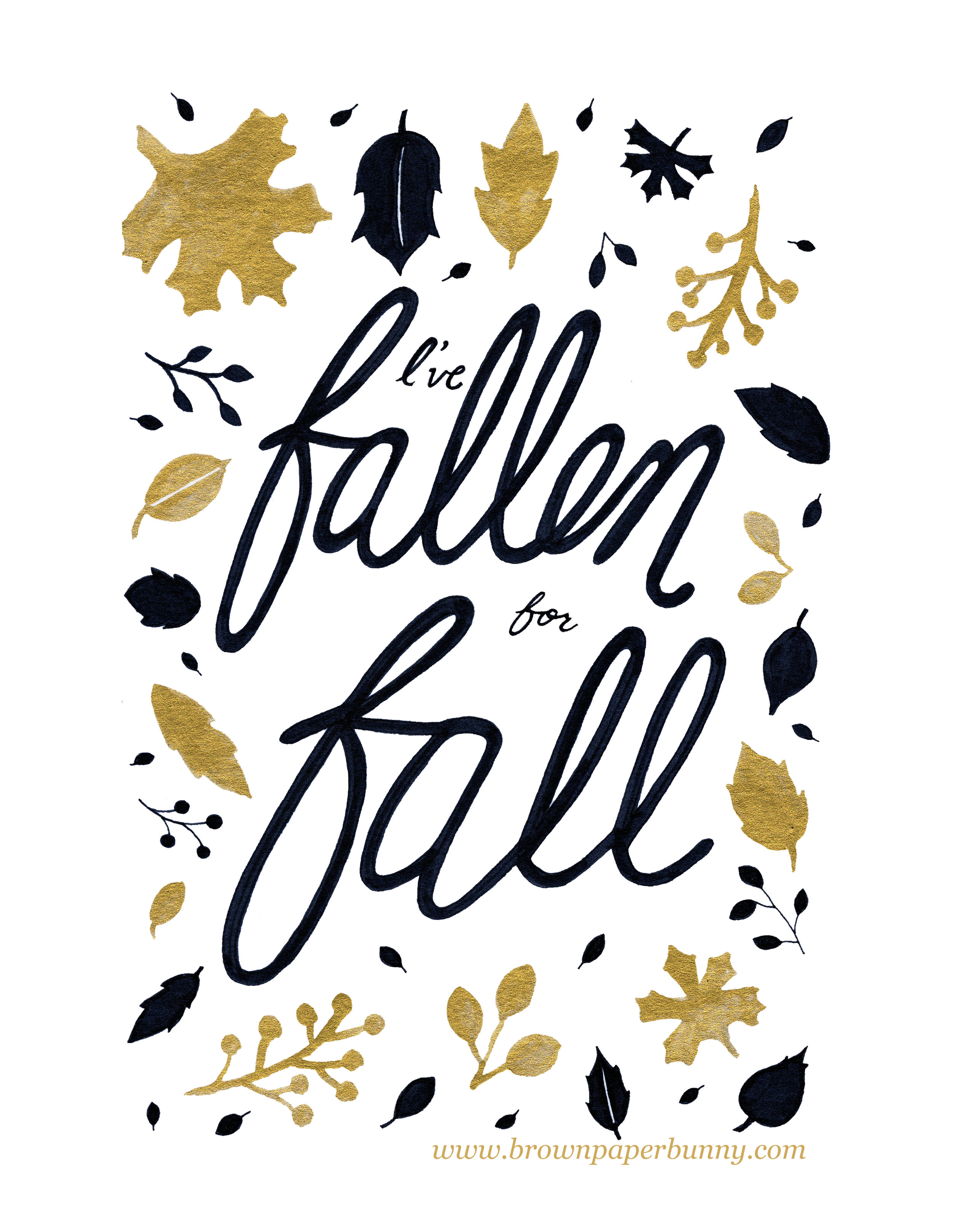 Fallen for Fall BrownPaperBunny