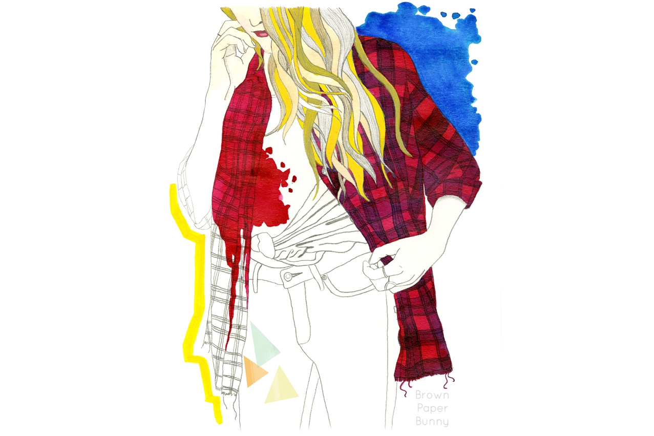 Flannel-fashion-illustration-BrownPaperBunny
