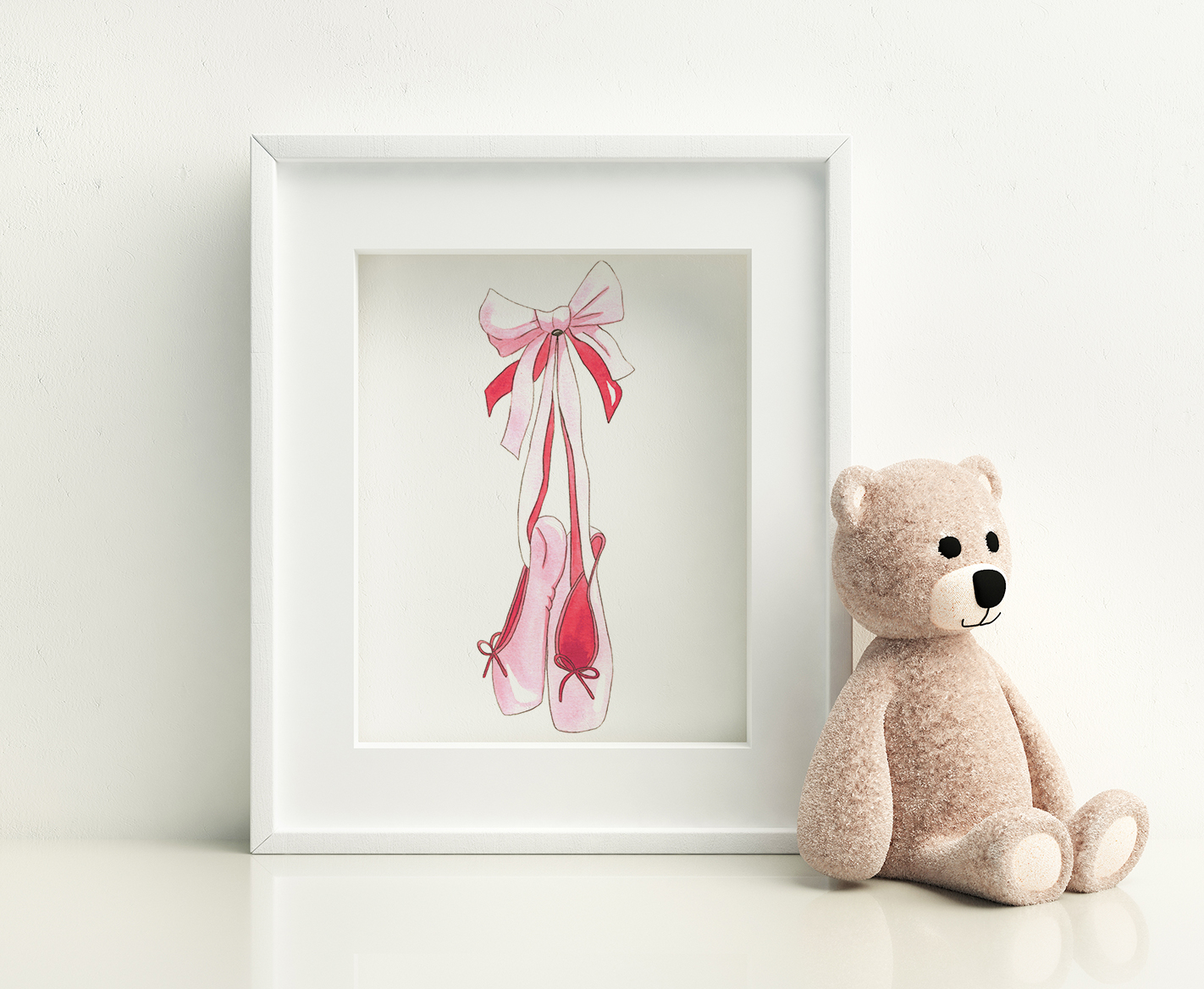 Pink-watercolor-ballet-slippers-BrownPaperBunny
