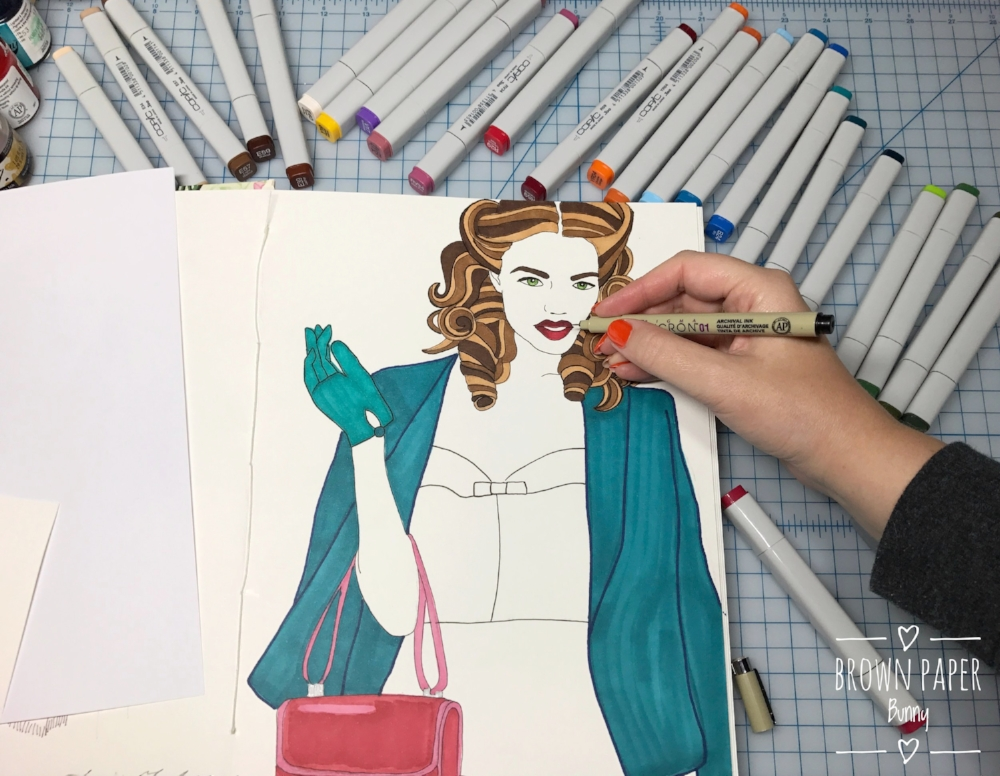 Inktober-Fashion-Illustration-BrownPaperBunny