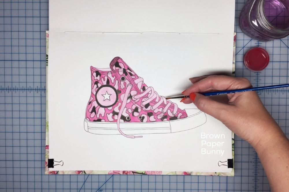 Inktober Sneakers Brown Paper Bunny